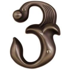 Alhambra Aged Bronze Finish House Number 3