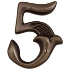 Alhambra Aged Bronze Finish House Number 5