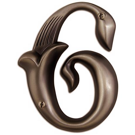 Alhambra Aged Bronze Finish House Number 6