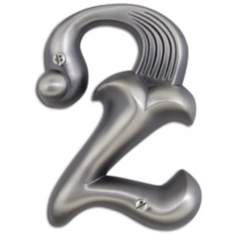 Alhambra Pewter Finish House Number 2