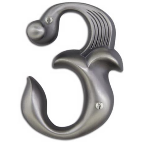 Alhambra Pewter Finish House Number 3