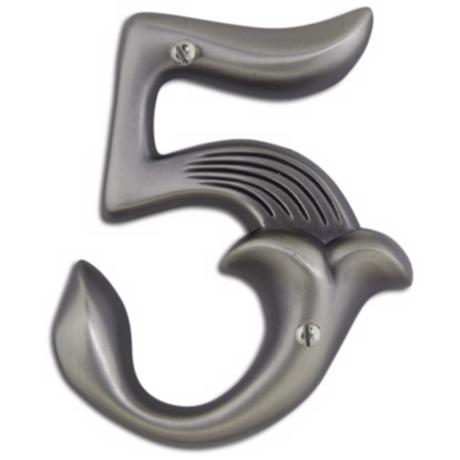 Alhambra Pewter Finish House Number 5
