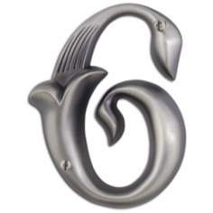 Alhambra Pewter Finish House Number 6