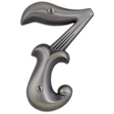Alhambra Pewter Finish House Number 7