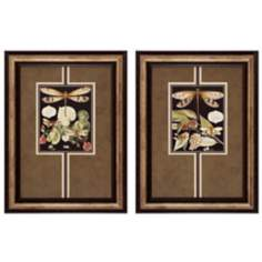 "Dragonfly I and II 24"" High Framed Wall Art"