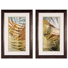 "Palm Frond I and II 34"" High Framed Wall Art"
