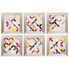 "Set of 6 Collect 16"" Square Framed Wall Art"