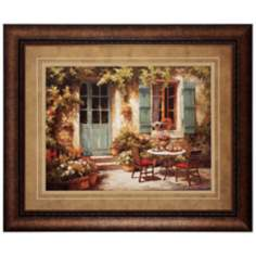 "Maison Provencale 36"" Wide Framed Wall Art"