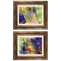 "Set of Two Summertime I and II 23"" Wide Framed Wall Art"