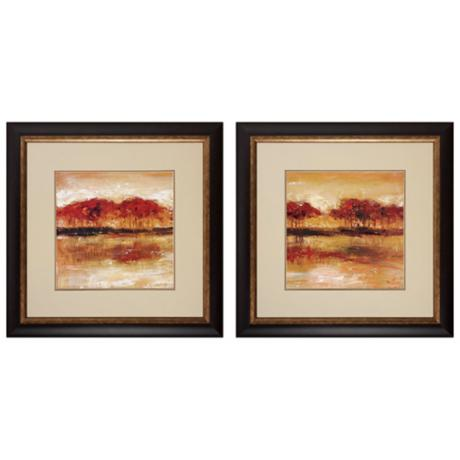 "Marsh I and II 29"" Square Frame Wall Art"