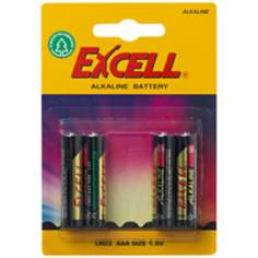 Excell AAA 4-Pack Alkaline Batteries