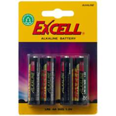 Excell AA 4-Pack Alkaline Batteries