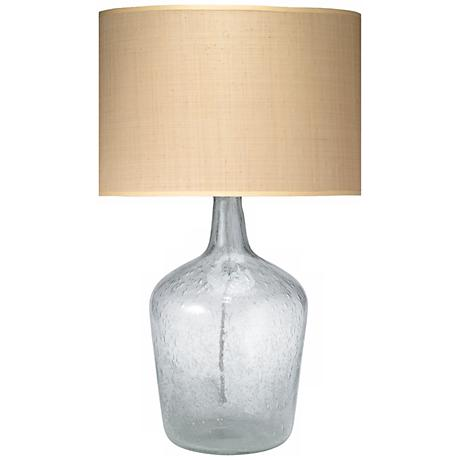 Jamie Young Medium Clear Glass Plum Jar Table Lamp