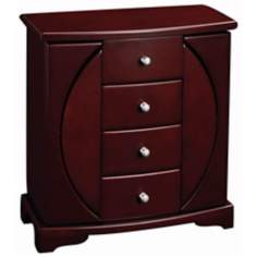 Simone Mahogany Jewelry Chest