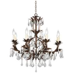 "Kathy Ireland Venezia Bronze 8-Light 26"" Wide Chandelier"