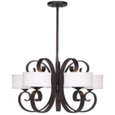"Possini Curled Iron 28"" Wide Chandelier"