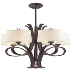 "Possini Bronze Curled Iron 27 3/4"" Wide Chandelier"