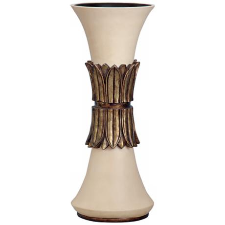 "Francisco Ivory Finish 18"" High Vase"