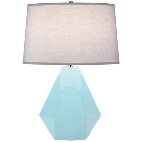 "Robert Abbey Delta Baby Blue 22 1/2"" High Table Lamp"