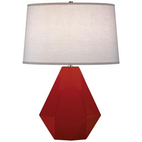 "Robert Abbey Delta Oxblood 22 1/2"" High Table Lamp"