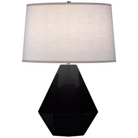 "Robert Abbey Delta Black 22 1/2"" High Table Lamp"
