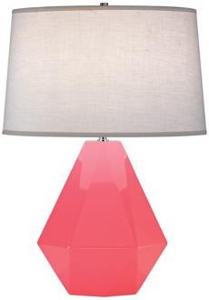 Robert Abbey Delta Schiaparelli Pink High Table Lamp