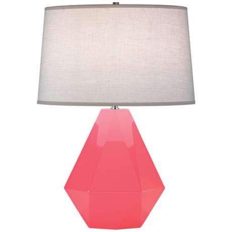 "Robert Abbey Delta Schiaparelli Pink 22 1/2"" High Table Lamp"