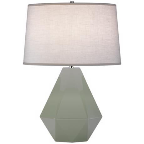 "Robert Abbey Delta Celadon 22 1/2"" High Table Lamp"