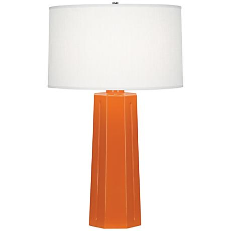 "Robert Abbey Mason Pumpkin 26"" High Table Lamp"