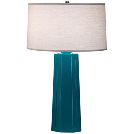 "Robert Abbey Isis Peacock 26"" High Table Lamp"
