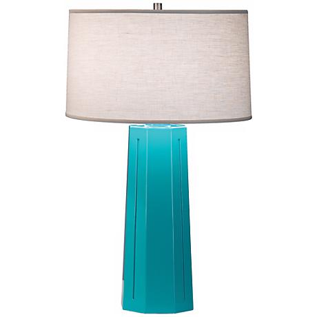 "Robert Abbey Mason Egg Blue 26"" High Table Lamp"