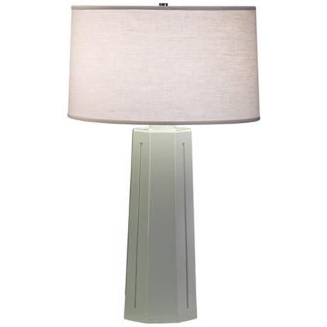 "Robert Abbey Isis Celadon 26"" High Table Lamp"