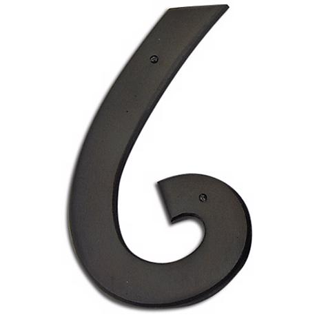 Mission Aged Bronze Finish House Number 6