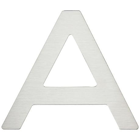 Paragon Collection Stainless Steel House Letter A