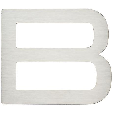 Paragon Collection Stainless Steel House Letter B