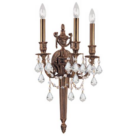 "Crystorama Arlington Collection 24"" High 3-Light Wall Sconce"