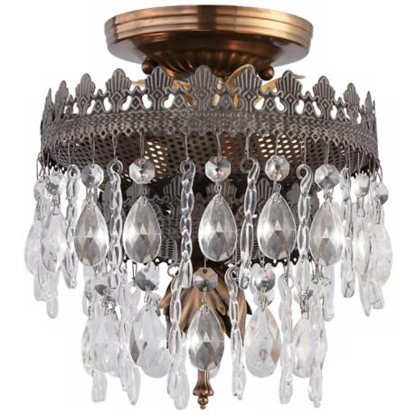 "Crystorama Alhambra Collection 8"" Wide Ceiling Light"