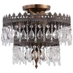 "Crystorama Alhambra Collection 12"" Wide Ceiling Light"