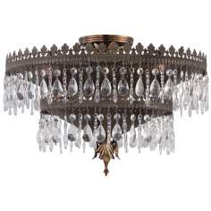 "Crystorama Alhambra Collection 18"" Wide Ceiling Light"