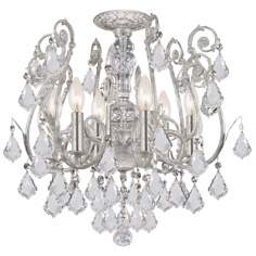 "Crystorama Regis Collection Silver 20"" Wide Ceiling Light"