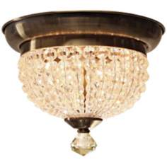"Crystorama Newbury Collection 10 1/4"" Wide Ceiling Light"