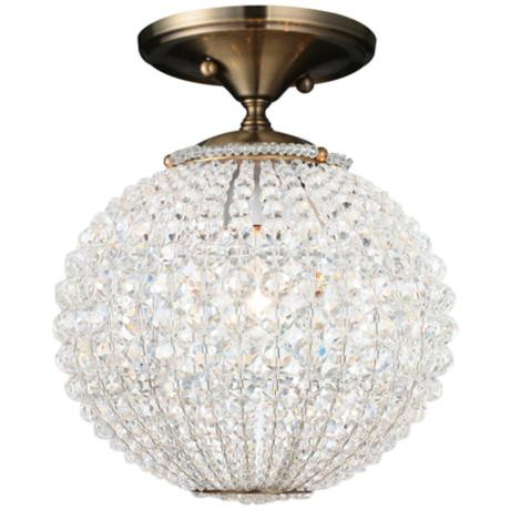 "Crystorama Newbury Collection 10"" Wide Ceiling Light"