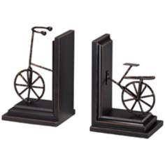 Bronze Finish Bicycle Bookends