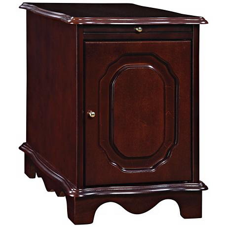 Heirloom Cherry Magazine Rack Chairside Table