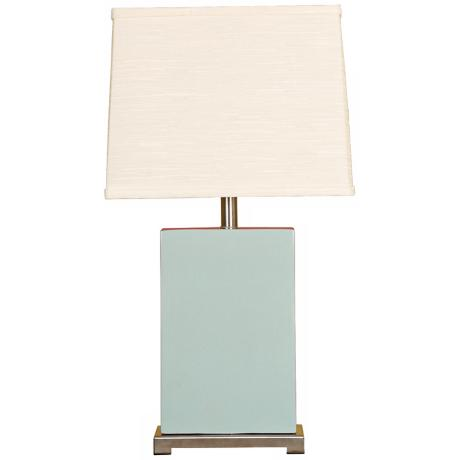 Splash Collection Aegean Ceramic Rectangular Table Lamp