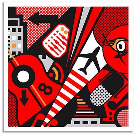 Mixup 2000 Red Wall Art