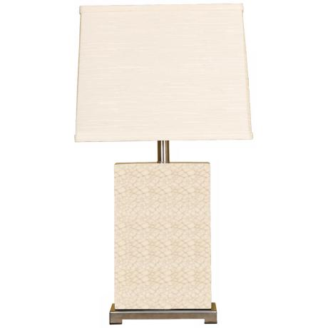 Splash Collection Crackle Ceramic Rectangular Table Lamp