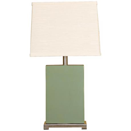 Splash Collection Moss Ceramic Rectangular Table Lamp