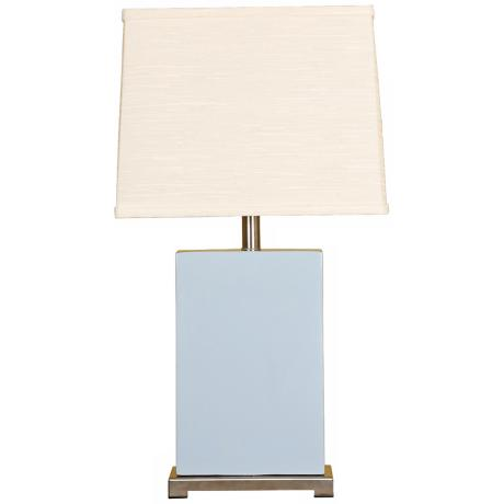 Splash Collection Sky Ceramic Rectangular Table Lamp