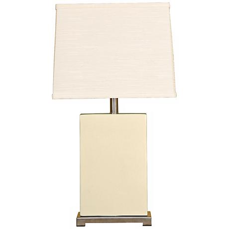 Splash Collection Vanilla Ceramic Rectangular Table Lamp